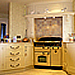 cream hand painted kitchen